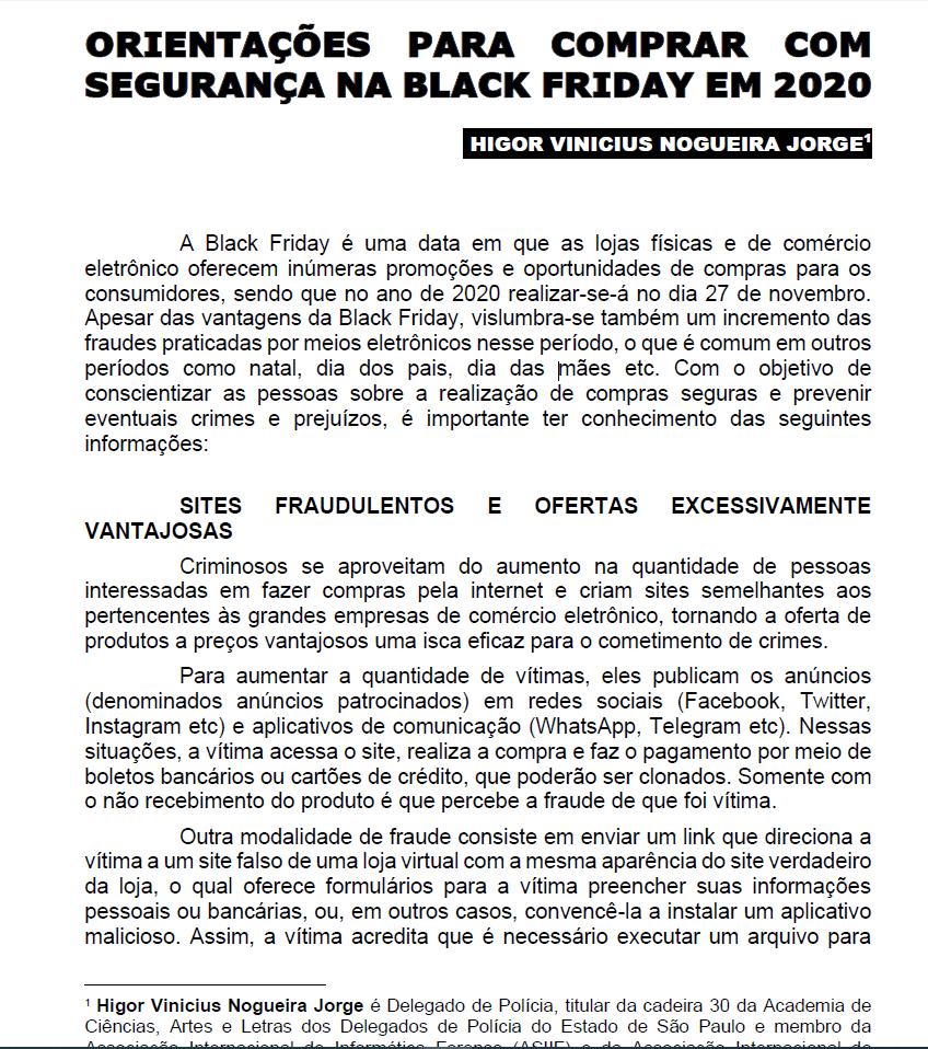 Orientações para comprar com segurança na Black Friday